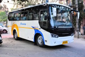 Mini bus hire in delhi, mini bus on rent